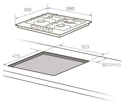 Встраиваемая варочная панель газовая Midea MG687X Silver