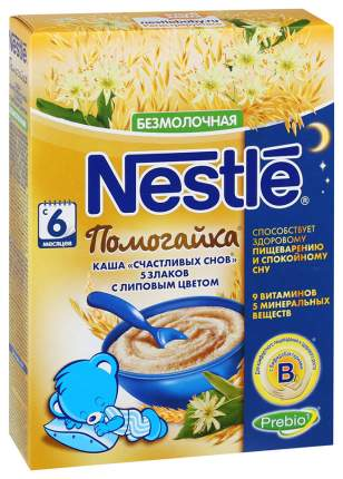 Каша безмолочная Nestle Помогайка 5 злаков с липовым цветом с 6 мес 200 г