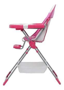 Стульчик для кормления Polini Joy Весенняя мелодия 252, розовый