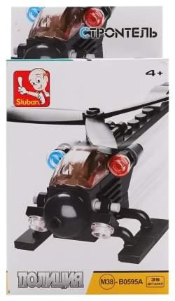 Конструктор пластиковый Sluban M38-B0595A Вертолет Полиция 35 деталей