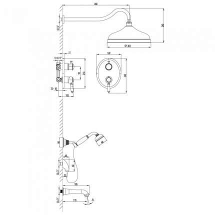 Смеситель для встраиваемой системы LEMARK Villa LM4822B бронза