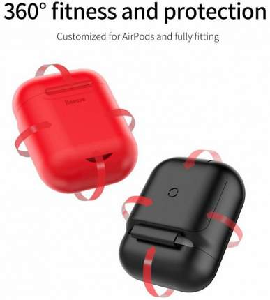 Чехол c беспроводной зарядкой Baseus Wireless Charger для AirPods (Black)