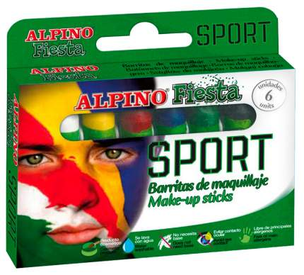 Детский аквагрим Спорт Alpino (макияжные карандаши), 6 x 5 гр, 6 цветов, арт. DL000011