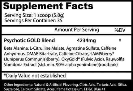 Предтренировочный комплекс Insane Labz Psychotic Gold 202 г, Gummy Candy