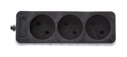 Удлинитель Uniel S-CD3-7, 3 розетки, 7 м, Black