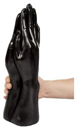 Стимулятор для фистинга с виде сомкнутых рук Dark Crystal Christian Dildo Black - 32 см