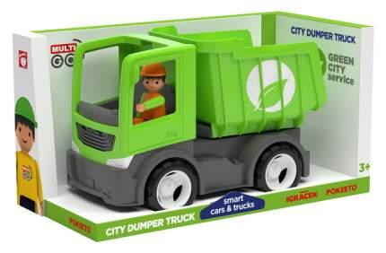 Городской грузовик самосвал с водителем