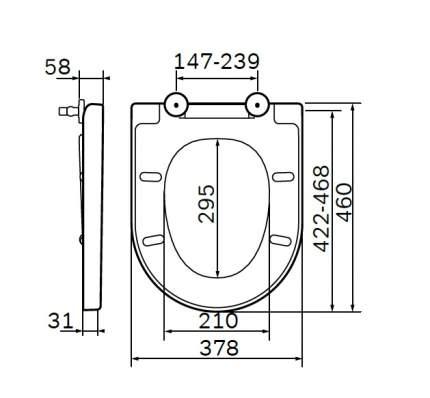 Крышка-сиденье Am.Pm Awe C117852WH с микролифтом, петли хром