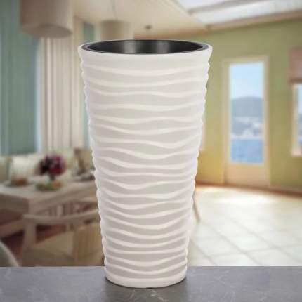 Prosperplast Кашпо SEND Slim с контейнером диаметр 40 см высота 75 см белый