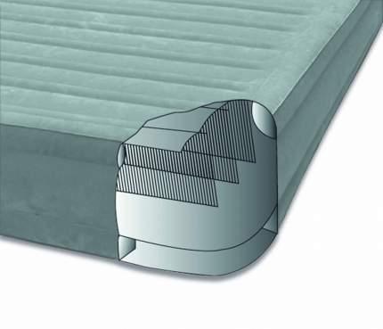 Intex, 67770, Надувная кровать Comfort-Plush 152х203х33см, встроенный насос 220V