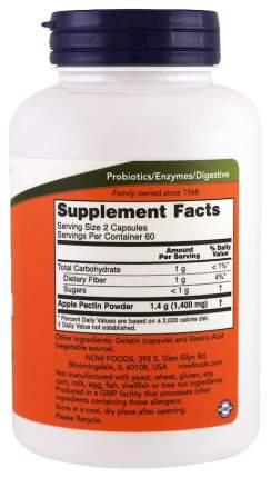 Для пищеварения NOW Apple Pectin 700 мг 120 капсул