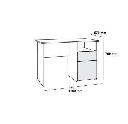 Письменный стол Mobi Комфорт 11 СК MOB_76632, дуб сонома