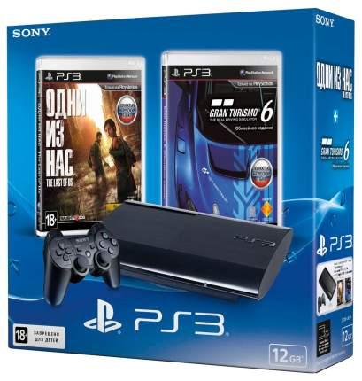 Игровая приставка PlayStation 3 Sony 12GB + Одни из нас + Gran Turismo 6