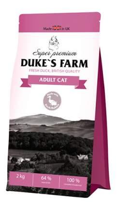 Сухой корм для кошек DUKE'S FARM, утка, кролик, 2кг