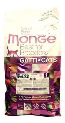 Сухой корм для кошек Monge Adult, курица и рис, 10кг
