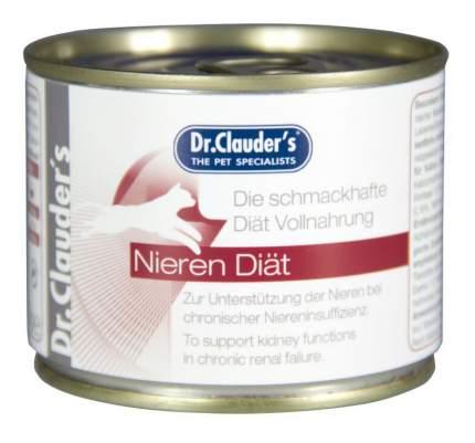 Консервы для кошек Dr.Clauder's Nieren, мясо, 6шт, 200г
