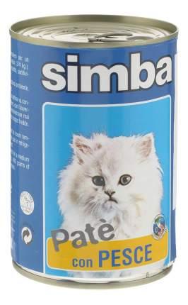 Консервы для кошек Simba Pate, паштет с рыбой, 24шт по 400г
