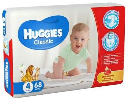Подгузники Huggies Classic 4 Mega Pack (7-18 кг), 68 шт.