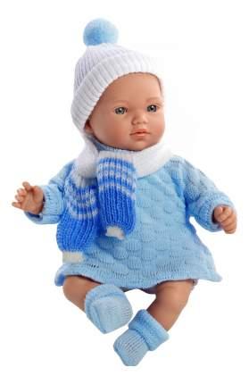 Кукла Arias Elegance в вязаном костюмчике голубая, 28 см