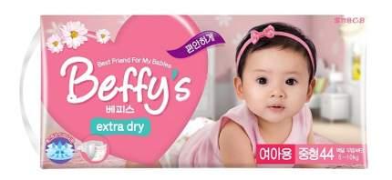 Подгузники Beffy's Extra Dry для девочек M (5-10 кг), 44 шт.