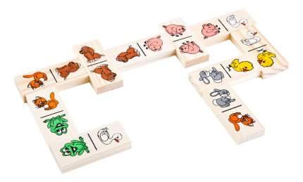 Семейная настольная игра Томик домино животные леса