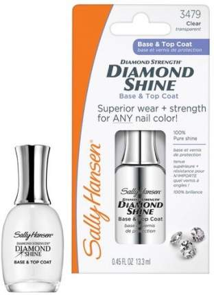 Средство 2 в 1: база и верхнее покрытие SALLY HANSEN Diamond Shine