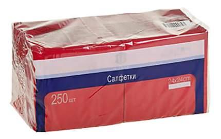 Салфетки H-Line трехслойные красные 24*24 см 250 штук