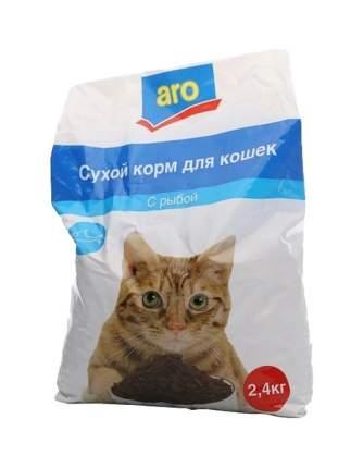 Сухой корм для кошек Aro, рыба, 2,4кг