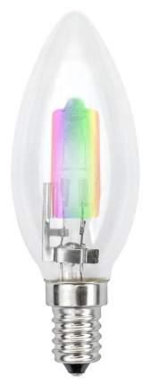Лампа галогенная (01089) E14 42W свеча радужная HCL-42/RB/E14 candle