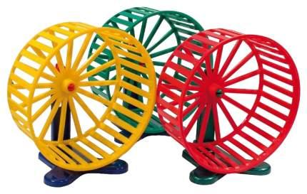 Беговое колесо для грызунов Дарэлл пластик, с подставкой, в ассортименте, 14 см