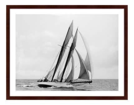 Картина Картины в Квартиру Яхта Элеонора. Подготовка к регате 79 х 100 см