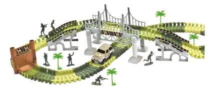 Гибкий трек Комбат 1Тoy 157 деталей, мост, дверь, солдатики, машинка Т10554