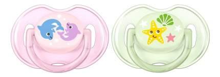 Набор детских пустышек Philips Avent Classic для девочки 0-6 месяцев 2 шт.