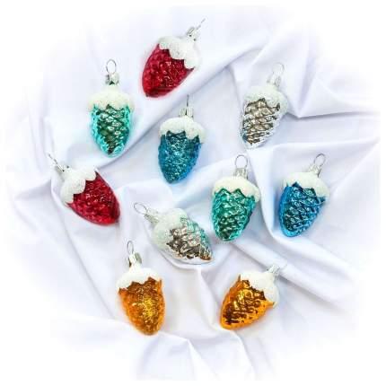 Набор елочных игрушек Елочка Шишки-малютки разноцветный C297