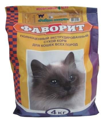 Сухой корм для кошек Фаворит, рыба, 4кг