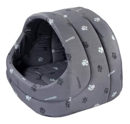 Домик для кошек Дарэлл 48х42х38 см серый