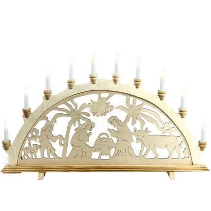Sigro Светильник-горка «Рождество» 71*40 см, 10 свечей 5210032L