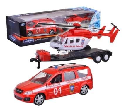 Коллекционная модель Lada largus Пожарная охрана с Вертолетом Autotime 49521