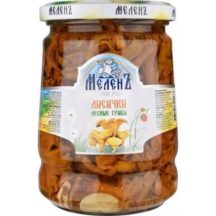 Грибы лисички МеленЪ маринованные консервированные 540 г