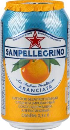 Напиток Sanpellegrino апельсиновый среднегазированный жестяная банка 0.33 л