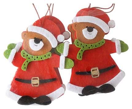 Набор подвесок Новогодняя сказка 972537 Зеленый, коричневый, красный, черный