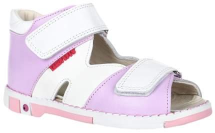 Сандалии детские Таши Орто С логотипом на липучках ярко-розовые