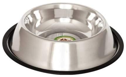 Одинарная миска для кошек и собак Ankur, металл, резина, серебристый, 0.9 л