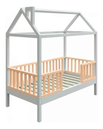 Кровать-домик Трурум KidS Сказка узкий бортик персиково-белая