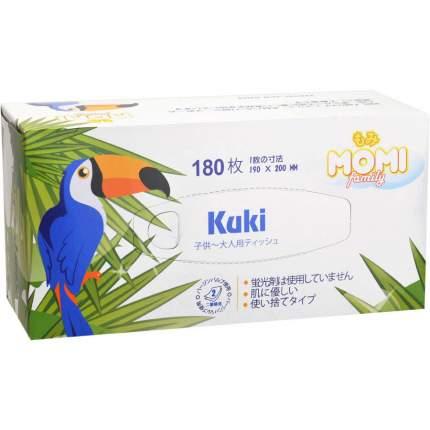 Бумажные салфетки Momi  family kuki двухслойные 180 штук
