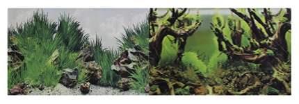 Фон для аквариума Prime Мангровая коряга/Подводный рельеф, винил, 100x50 см