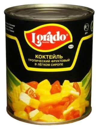 Коктейль Lorado тропический фруктовый в легком сиропе 850 мл