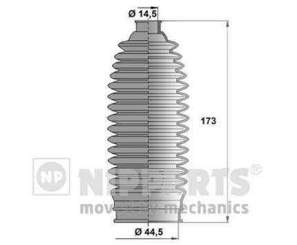 Пыльник рулевой рейки Nipparts N2847014