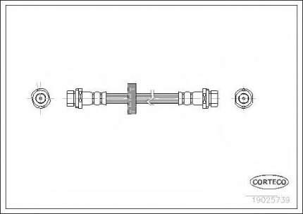 Шланг тормозной Corteco 19025739