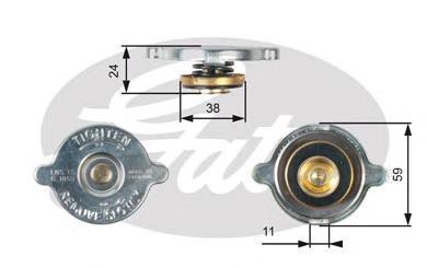 Крышка системы охлаждения Gates RC116